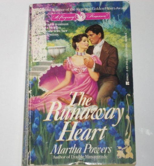 The Runaway Heart by MARTHA POWERS Berkley Historical Regency Romance 1990 Award Winner