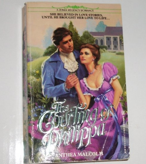 The Courting of Philippa by ANTHEA MALCOLM Zebra Historical Regency Romance 1989
