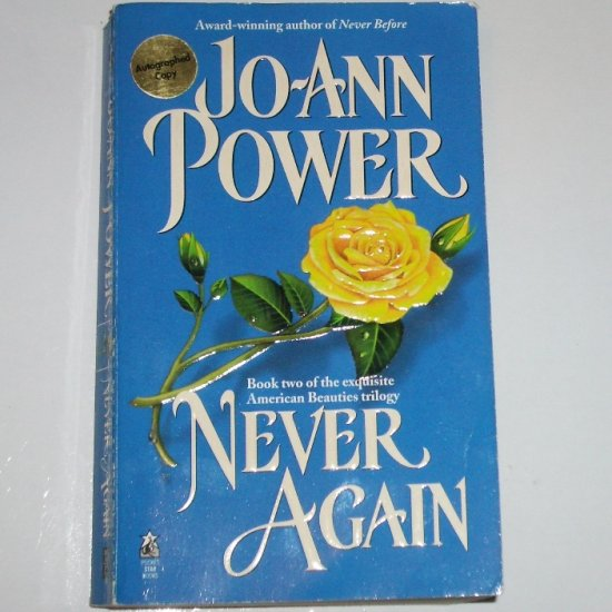 Never Again by JO-ANN POWER Historical Romance Never Series Paperback 1998 Signed