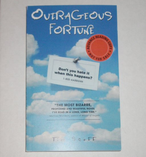 Outrageous Fortune by TIM SCOTT Advance Reading Copy ARC Science Fiction 2007
