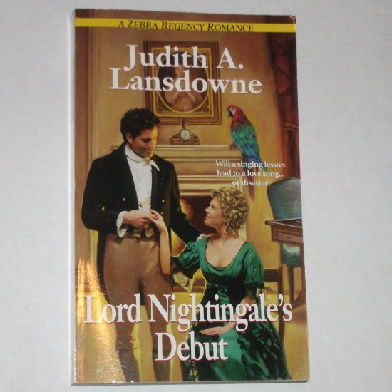 Lord Nightingale's Debut by Judith A. Lansdowne Slim Zebra Regency Romance Paperback 2000
