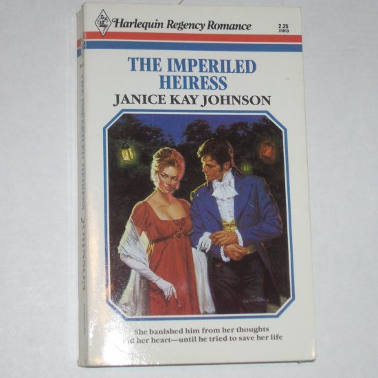 The Imperiled Heiress by JANICE KAY JOHNSON Harlequin Regency Romance 1986