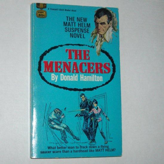 The Menacers by DONALD HAMILTON Matt Helm Suspense Novel 1968