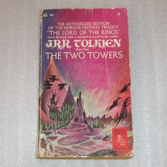 The Two Towers by J R R TOLKIEN Lord of the Rings Book 2 1971