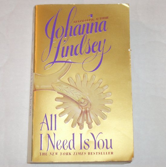 All I Need is You by JOHANNA LINDSEY Historical Western Romance Paperback 1998 Straton Series