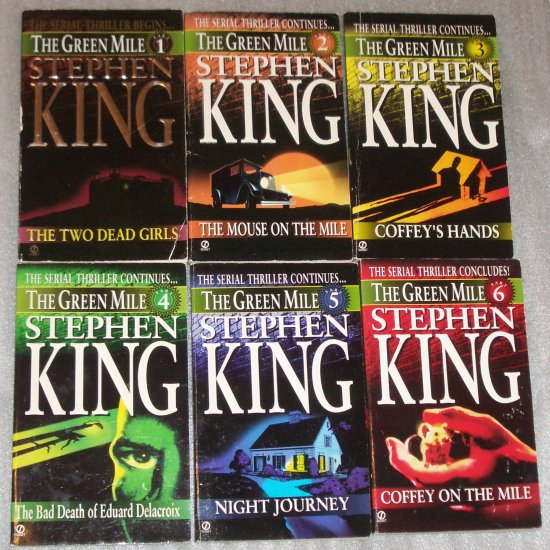 The Green Mile by STEPHEN KING Complete Series of 6