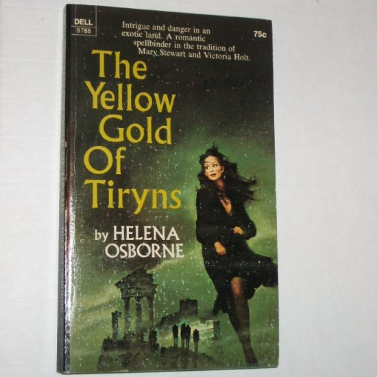 The Yellow Gold of Tiryns by HELENA OSBOURNE Vintage Romantic Suspense 1971