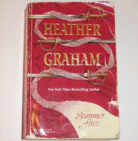 Summer Fires by HEATHER GRAHAM Trade Size Historical Civil War 3-in-1 Romance 2001