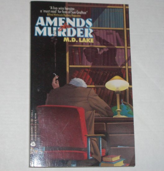 Amends for Murder by M D LAKE A Peggy O'Neill Mystery 1989