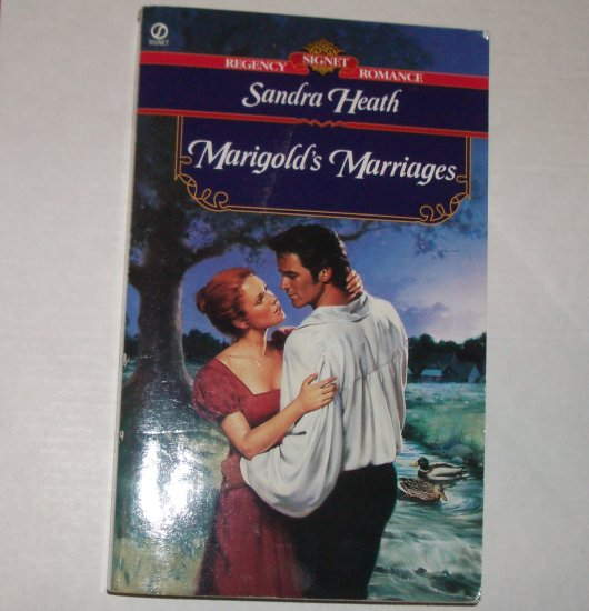 Marigold's Marriages by SANDRA HEATH Slim Signet Historical Regency Romance 1999