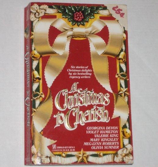 A Christmas to Cherish by GEORGINA DEVON, VALERIE KING et al Regency Romance 6-in-1 1992