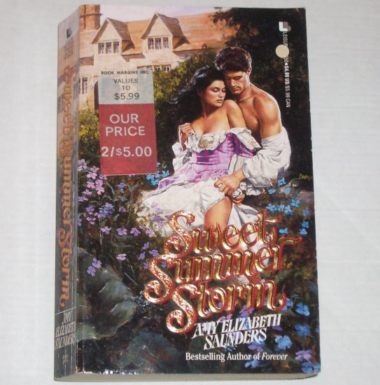 Sweet Summer Storm by AMY ELIZABETH SAUNDERS Historical Romance 1994