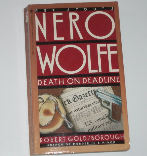 Death on Deadline by REX STOUT Nero Wolfe Mystery 1988