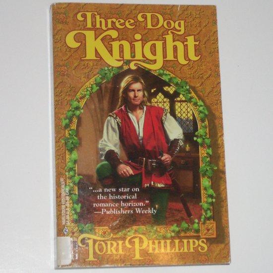 Three Dog Knight TORI PHILLIPS Harlequin Historical Medieval Romance Cavendish Chronicles Series
