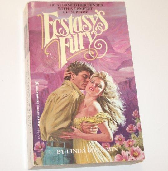 Ecstasy's Fury by LINDA BENJAMIN Historical Western Romance 1990