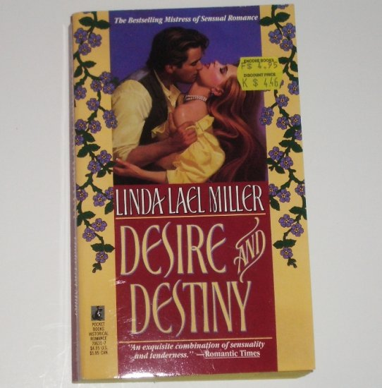 Desire and Destiny by LINDA LAEL MILLER Historical Romance 1990