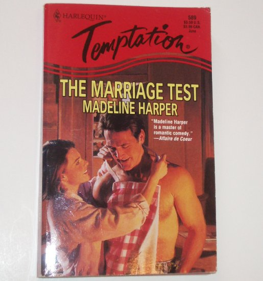 The Marriage Test by MADELINE HARPER Harlequin Temptation 589 Jun96