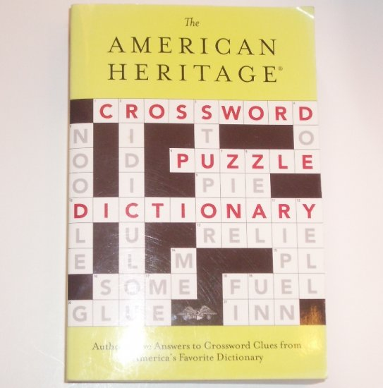 The American Heritage Crossword Puzzle Dictionary NEW