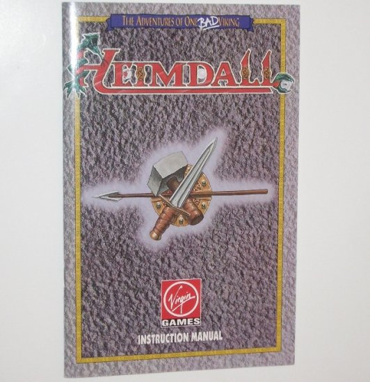 Heimdall Video Game Instruction Manual Only