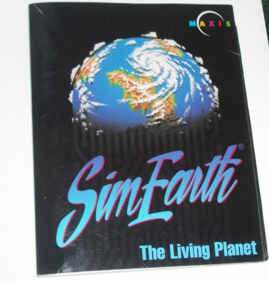 SimEarth The Living Planet Video Game Manual Only