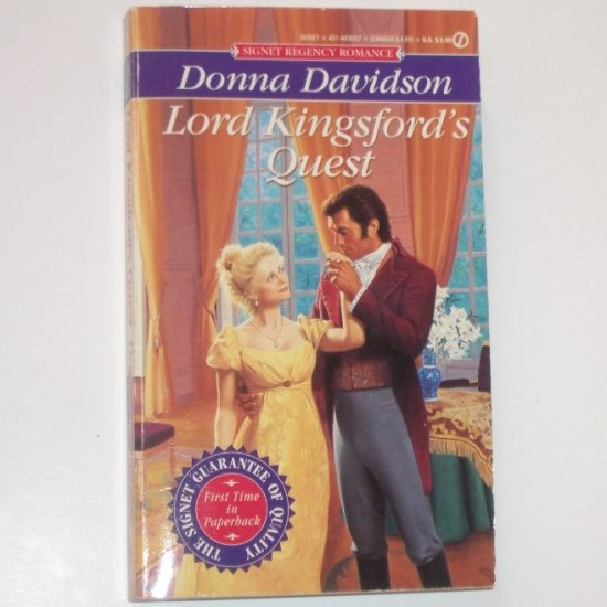 Lord Kingford's Quest by DONNA DAVIDSON Slim Signet Historical Regency Romance 1995