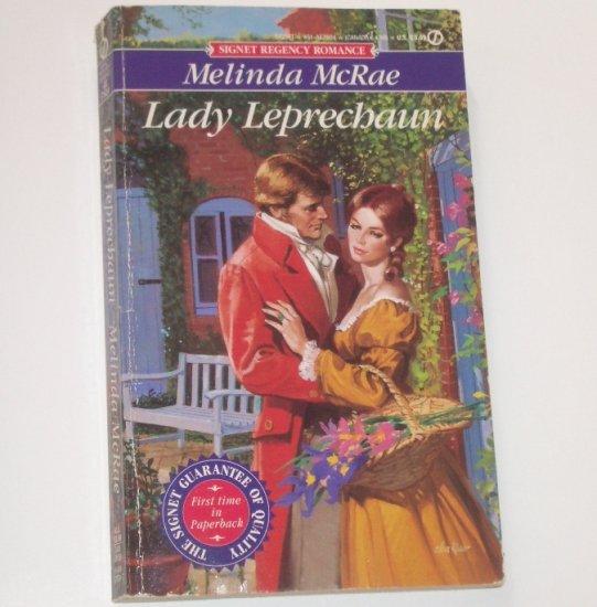 Lady Leprechaun by Melinda McRae Slim Signet Historical Regency Romance 1993
