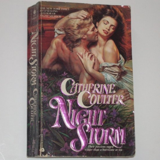Night Storm by CATHERINE COULTER Historical Romance 1990 Night Trilogy Series