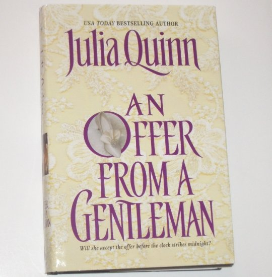 An Offer From a Gentleman by JULIA QUINN Historical Romance 2001 Hardcover Bridgerton Series