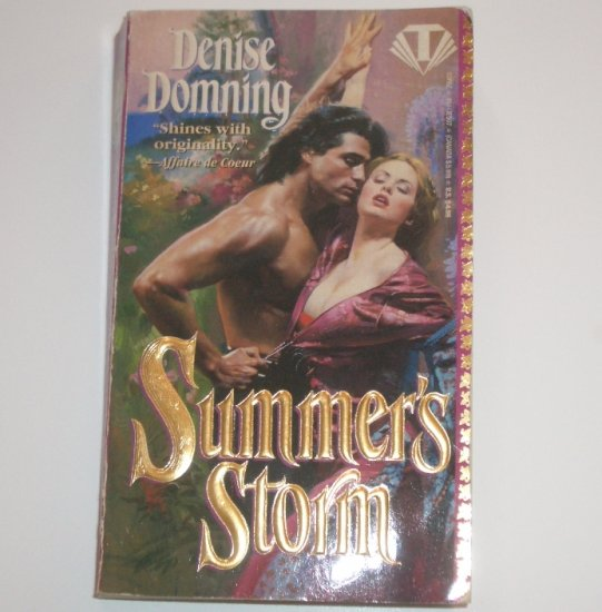 Summer's Storm by DENISE DOMNING Historical Medieval Romance 1994 Season Series