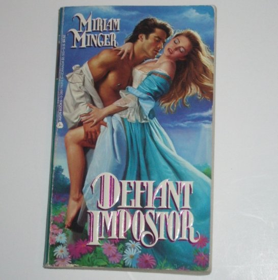 Defiant Impostor by MIRIAM MINGER Historical Colonial Romance 1992