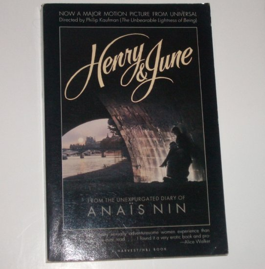 Henry & June by ANAIS NIN Trade Size 1989