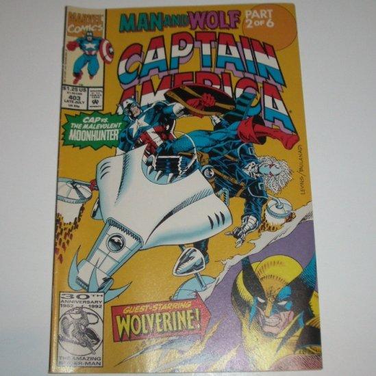 Captain America #403 (Marvel Comics 1992)