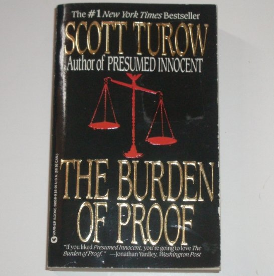 The Burden of Proof by Scott Turow Legal Thriller 1991
