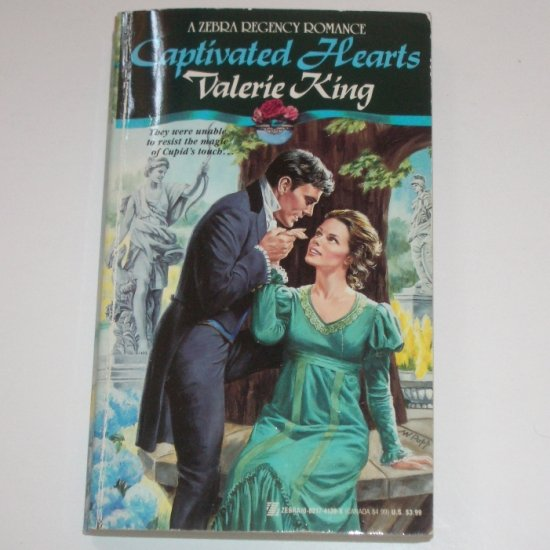 Captivated Hearts by VALERIE KING Zebra Historical Regency Romance 1993