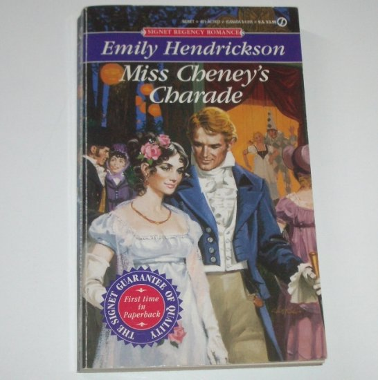 Miss Cheney's Charade by EMILY HENDRICKSON Signet Historical Regency Romance 1994