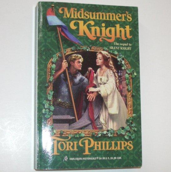 Midsummer's Knight TORI PHILLIPS Harlequin Historical Medieval Romance Cavendish Chronicles Series