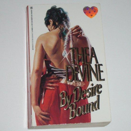 By Desire Bound by THEA DEVINE Zebra Splendor Turn of the Century Romance 1998
