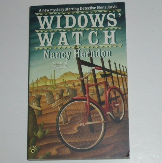 Widow's Watch by NANCY HERDON A Detective Elena Jarvis Mystery 1995 Prime Crime