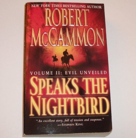 Speaks the Nightbird Volume II Evil Unveiled by ROBERT McCAMMON Suspense 2003