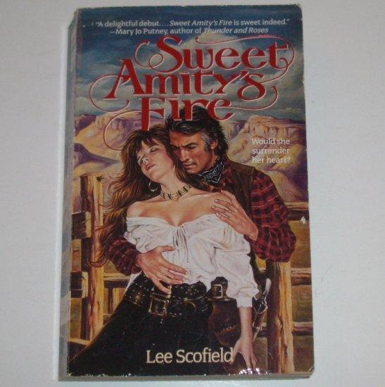 Sweet Amity's Fire by Lee Scofield Historical Western Romance 1993