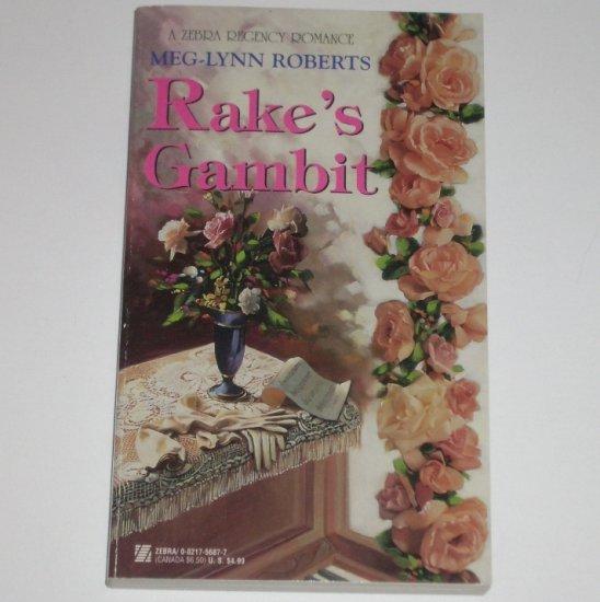 Rake's Gambit by Meg-Lynn Roberts Zebra Historical Regency Romance 1997