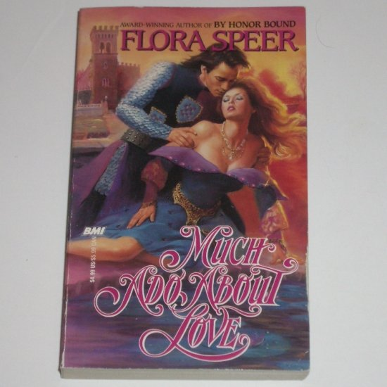 Much Ado About Love by FLORA SPEER Historical Medieval Knight Romance 1989