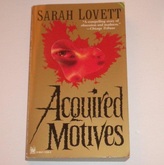 Acquired Motives by SARAH LOVETT Sylvia Strange Sarah Lovett  Series 1997