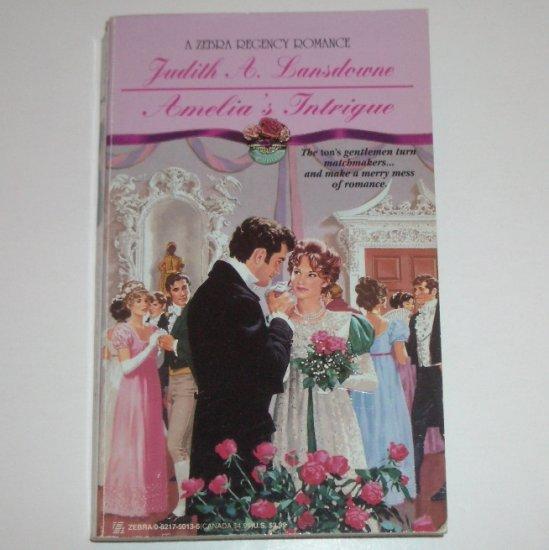 Amelia's Intrigue by Judith A. Lansdowne Slim Zebra Historical Regency Romance 1995
