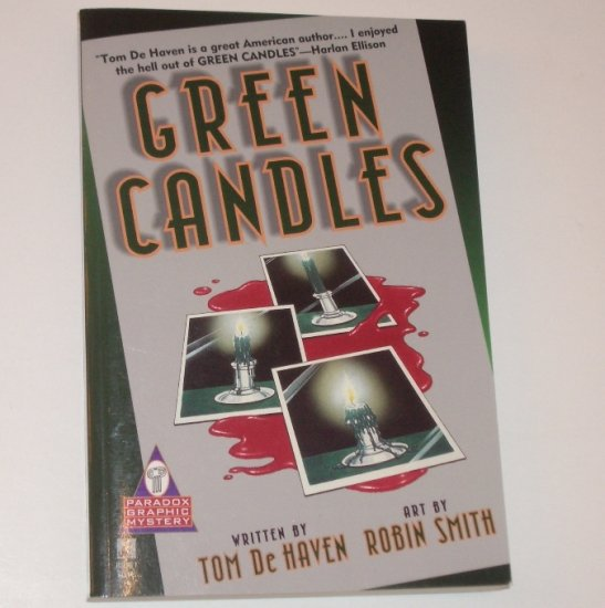 Green Candles by TOM de HAVEN Paradox Graphic Mystery 1997 Trade Size
