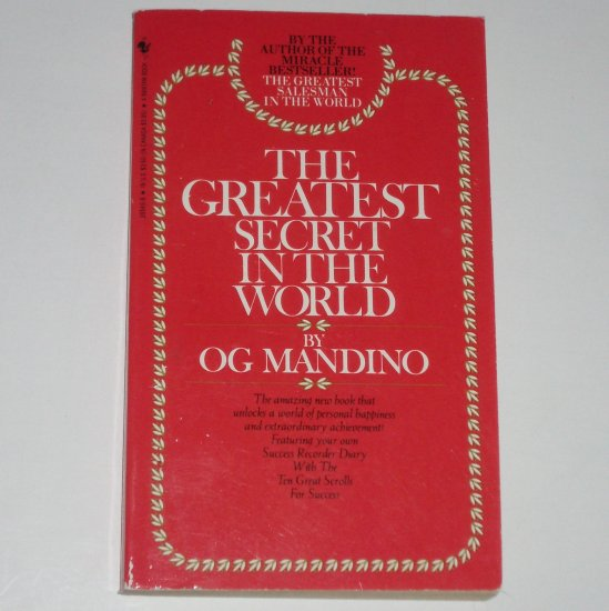 The Greatest Secret in the World by OG MANDINIO Personal Happiness Self Help 1986