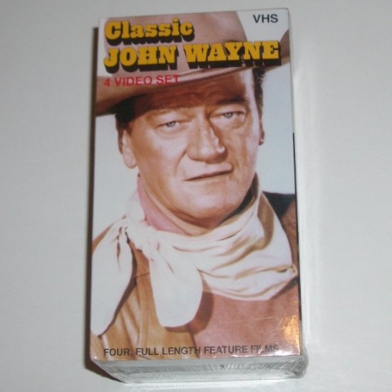 Classic John Wayne Volume 1 Four (4) VHS Video Collection