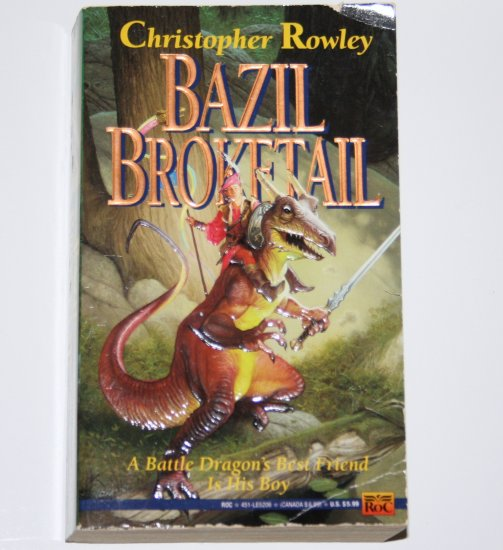 Bazil Broketail by CHRISTOPHER ROWLEY Fantasy 1992 Bazil Broketail Series Book 1