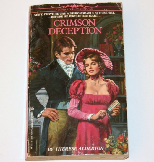 Crimson Deception by THERESE ALDERTON Zebra Historical Regency Romance 1991