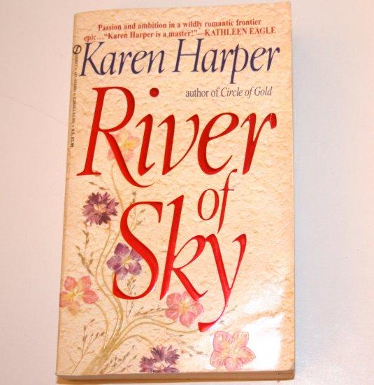 River of Sky by KAREN HARPER Historical Western Frontier Romance 1995